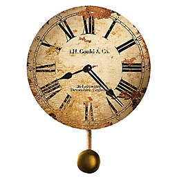 Howard Miller® Moment in Time JH Gould & Co. 13-Inch Pendulum Wall Clock in Distressed Tan