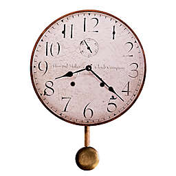 Howard Miller® Moment in Time 13-Inch Wall Clock with Pendulum in Wood