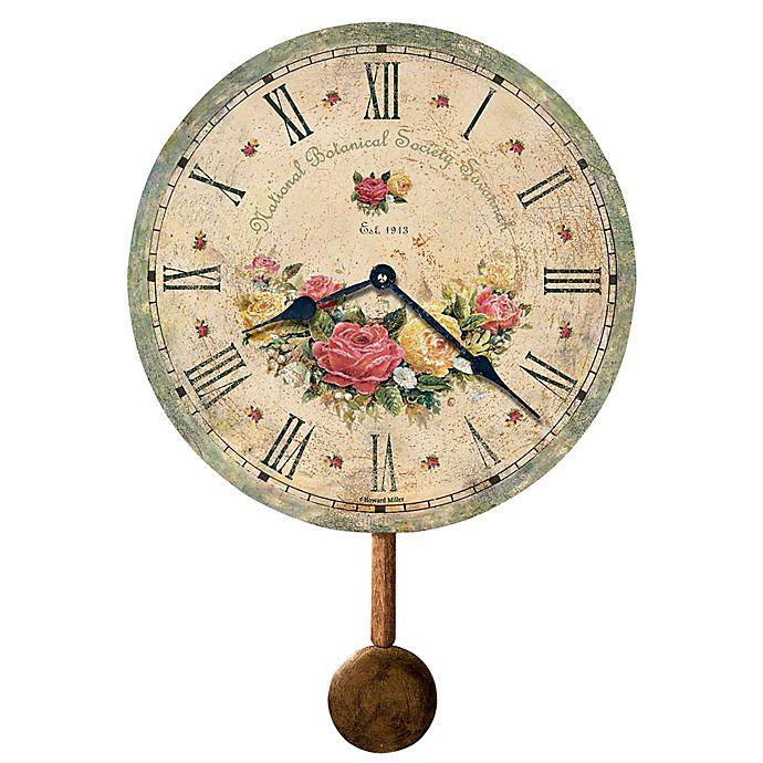 Alternate image 1 for Howard Miller® Moment in Time 13-Inch Savannah Botanical VI Wall Clock