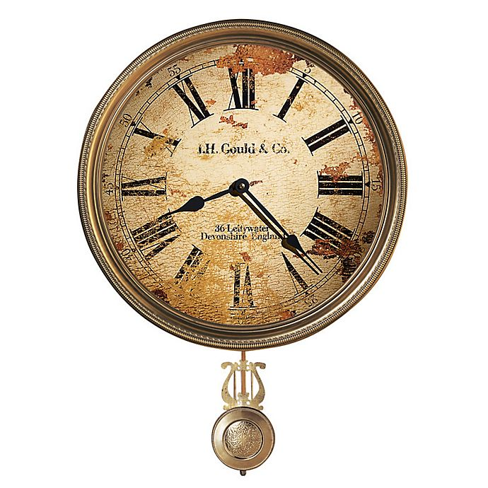 Alternate image 1 for Howard Miller® Moment in Time 15-Inch JH Gould & Co. III Wall Clock in Distressed Tan