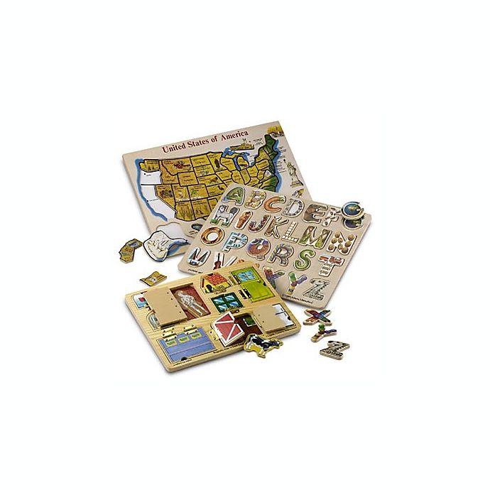 Alternate image 1 for Alphabet Art Wood Puzzle