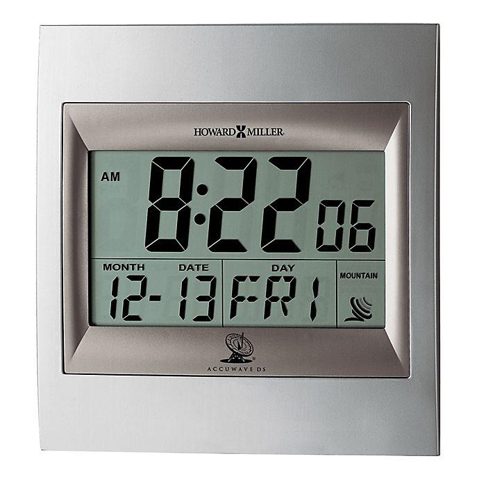 Alternate image 1 for Howard Miller® Techtime II Alarm Clock in Silver