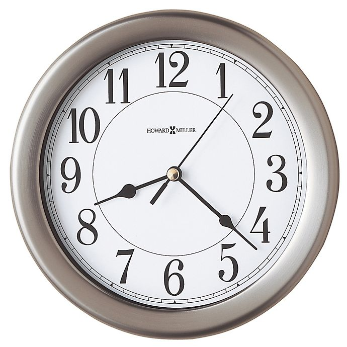 Alternate image 1 for Howard Miller® 8.5-Inch Aries Wall Clock in Brushed Nickel