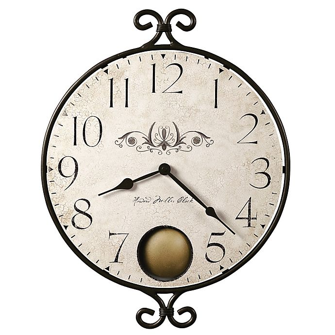 Alternate image 1 for Howard Miller® 14-Inch Randall Wall Clock in Wrought Iron