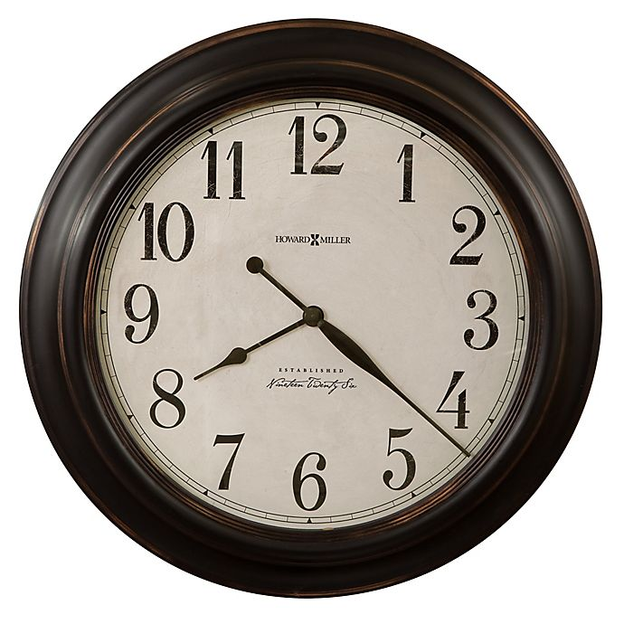 Alternate image 1 for Howard Miller® 30-Inch Ashby Wall Clock in Aged Black