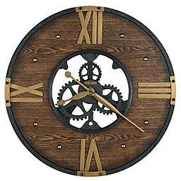 Howard Miller® 24-Inch Murano Wall Clock in Matte Black