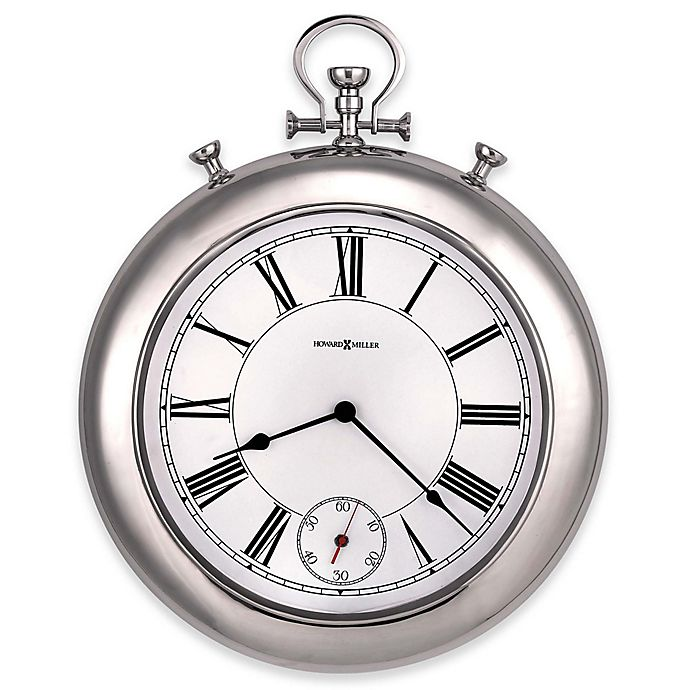 Alternate image 1 for Howard Miller® 20.5-Inch Hobson Wall Clock in Polished Chrome