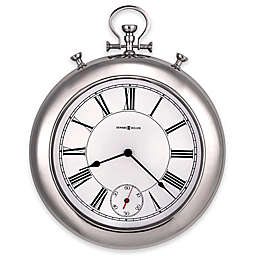 Howard Miller® 20.5-Inch Hobson Wall Clock in Polished Chrome