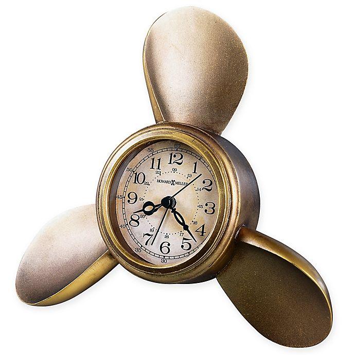 Alternate image 1 for Howard Miller® Propeller Tabletop Clock in Antique Brass