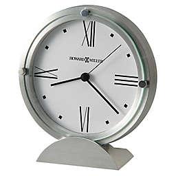 Howard Miller® Simon II Tabletop Clock in Brushed Aluminum