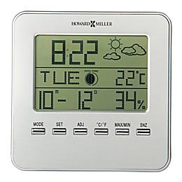Howard Miller® Weather View Tabletop Alarm Clock in Silver