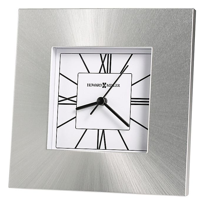 Alternate image 1 for Howard Miller® Kendal Tabletop Clock in Silver