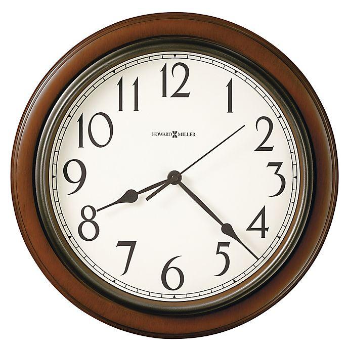 Alternate image 1 for Howard Miller® 15.25-Inch Kalvin Wall Clock in Cherry Finish