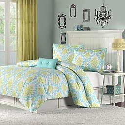 Mizone Katelyn Twin/Twin XL Comforter Set in Teal