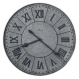 Howard Miller® Manzine 32-Inch Wall Clock in Galvanized Steel