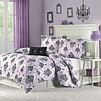 Mizone Katelyn Full/Queen Comforter Set in Purple