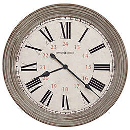 Howard Miller® 30.75-Inch Nesto Wall Clock in Aged Brown