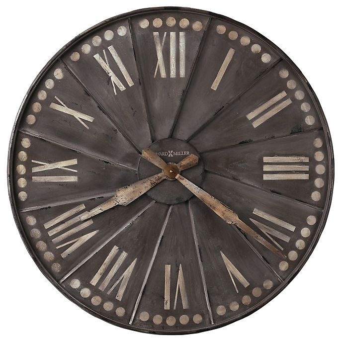 Alternate image 1 for Howard Miller® 35-Inch Stockhard Gallery Wall Clock in Antique Charcoal