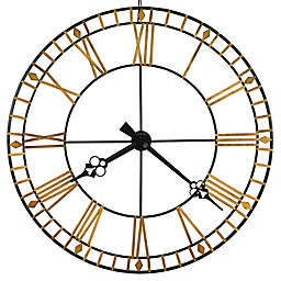 Howard Miller® 46.5-Inch Avante Wall Clock in Antique Black/Gold