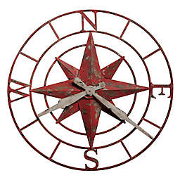 Howard Miller® 32-Inch Compass Rose Wall Clock in Antique Red