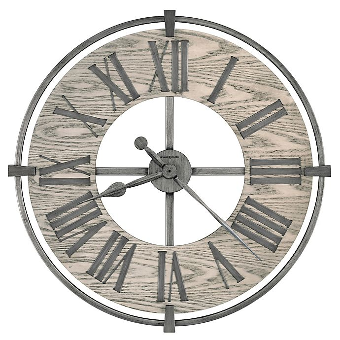 Alternate image 1 for Howard Miller® 32-Inch Eli Wall Clock in Aged Silver