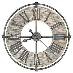 Howard Miller® 32-Inch Eli Wall Clock in Aged Silver