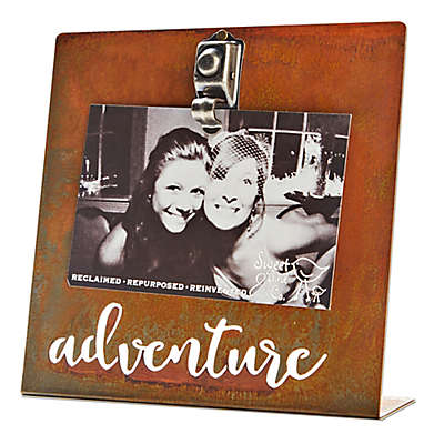 Sweet Bird & Co. 4-Inch x 6-Inch Adventure Clip Picture Frame
