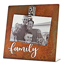 Sweet Bird & Co. 4-Inch x 6-Inch Family Clip Picture Frame