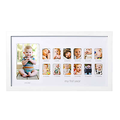 Pearhead® My First Year 13-Photo Collage Picture Frame in White