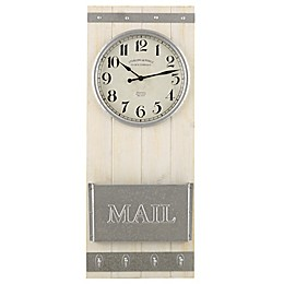 Sterling & Noble® Home Message Center Wall Clock in White