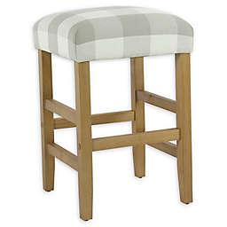 Homepop Wood Upholstered Bar Stool