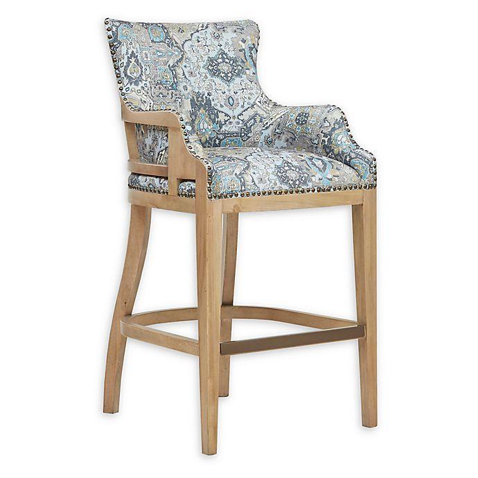 Alternate image 1 for Madison Park™ Tanner Upholstered Bar Stool in Grey