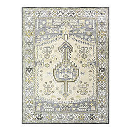 Sienna Hand-Tufted 8' x 10' Area Rug in Charcoal/Ivory