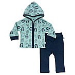 Finn + Emma® Size 3-6M 2-Piece Porcupine Hooded Jacket and Pant Set in Blue