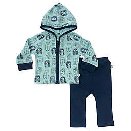 Finn + Emma® 2-Piece 100% Organic Porcupine Hooded Jacket and Pant Set in Blue