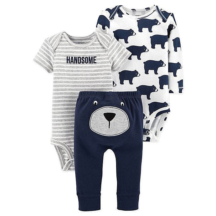 a322490cc carter s® 3-Piece Bear Bodysuit and Pant Set in Navy
