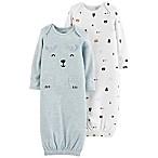 carter's® Preemie 2-Pack Bear Gowns