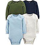 carter's® Size 9M 4-Pack Long-Sleeve Bodysuits