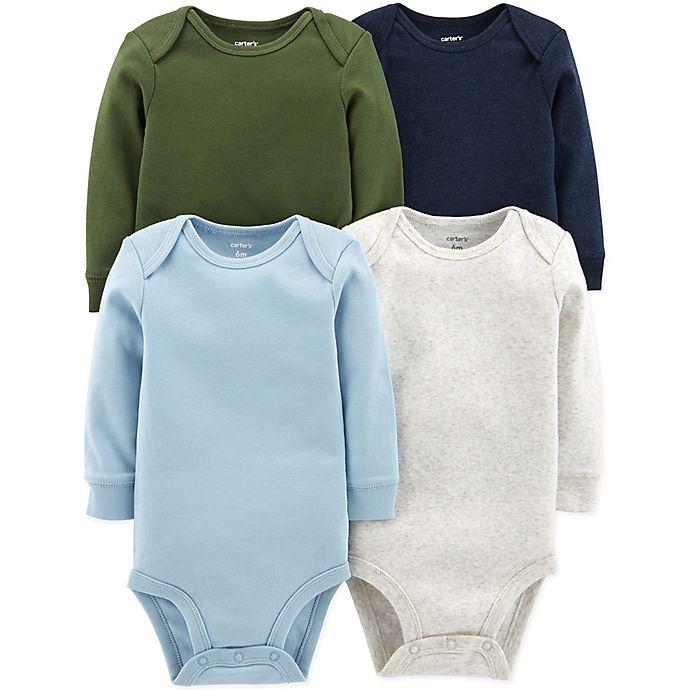 Alternate image 1 for carter's® 4-Pack Long-Sleeve Bodysuits