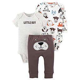 carter's® 3-Piece Dog Little Character Bodysuit and Pant Set in Brown