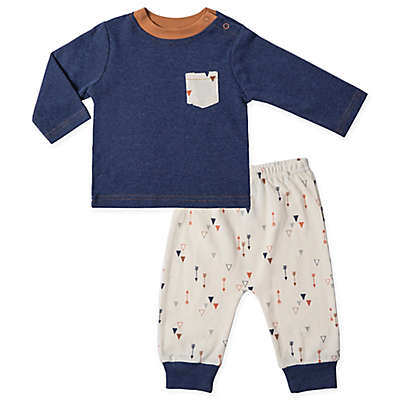 asher and olivia® 2-Piece Arrow Shirt and Pant Set in Blue