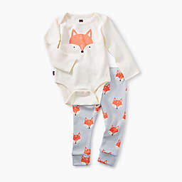 Tea Collection 2-Piece Fox Pajama Set in White