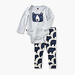 Tea Collection 2-Piece Bears Pajama Set in Grey