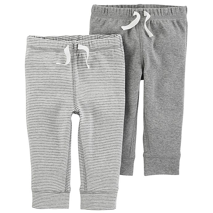 Alternate image 1 for carter's® 2-Pack Pull-On Pant in Grey