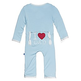 """KicKee Pants® """"I ♥ Dad"""" Coverall in Blue"""