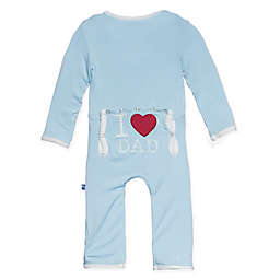 "KicKee Pants® ""I ♥ Dad"" Coverall in Blue"