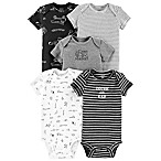 carter's® Size 6M 5-Pack Digger Bodysuits in Black