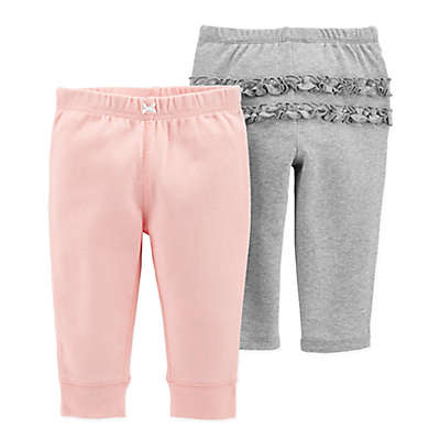 carter's® 2-Pack Comfort Pant in Pink and Grey