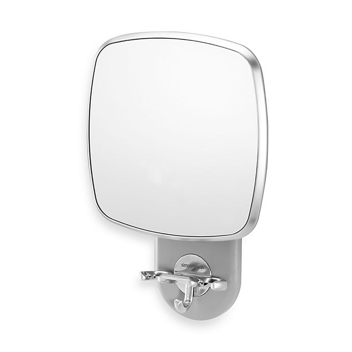Alternate image 1 for simplehuman® Anti-Fog Wall Mount Shower Mirror