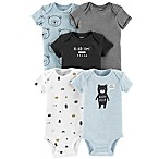 carter's® Newborn 5-Pack Bears Short Sleeve Bodysuits